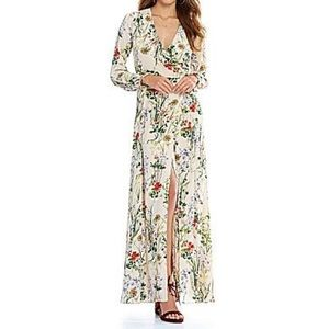 Gianni Bini floral maxi wrap dress